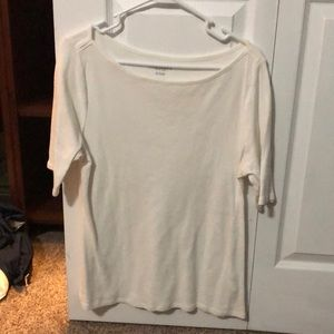 Old Navy 3/4 Sleeve White Boatneck Shirt